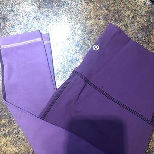 Purple Lululemon Wunder Under Leggings